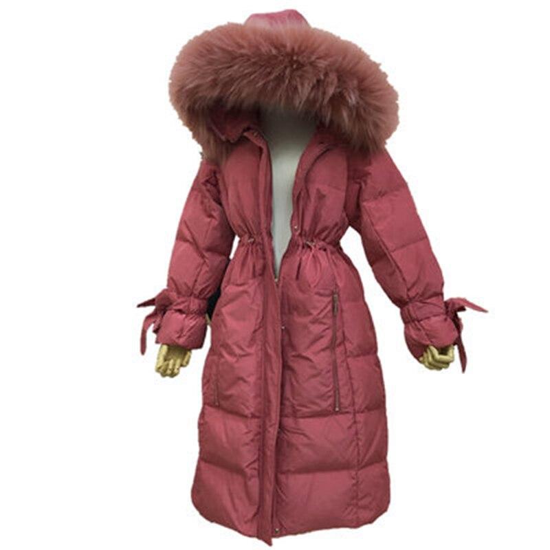 Winter   Down     Coats   long For Women Winter Jacket 2018 Brand Real Raccoon Fur   Coat   Womens Long Parka Female Duck   Down   Jackets T340