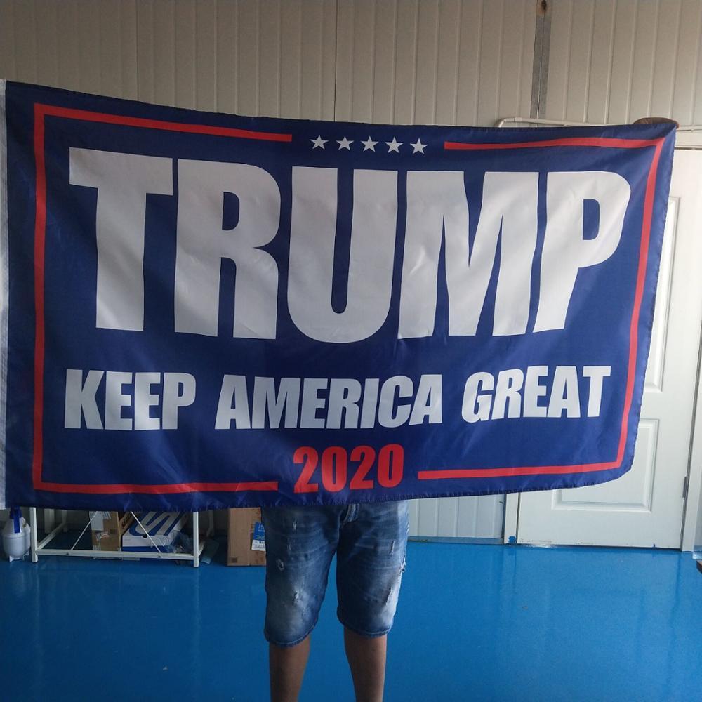 150x90 cm Trump 2020 drapeau Double face imprimé Donald Trump drapeau garder l'amérique grand Donald pour le président USA