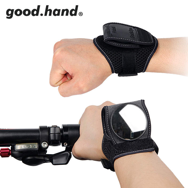 GOOD HAND Bicycle Bike Back Mirror Cycling Wrist Band Strap Reflex Rear View Rearview Arm Wrist Cycling Gloves with Bike Mirrors
