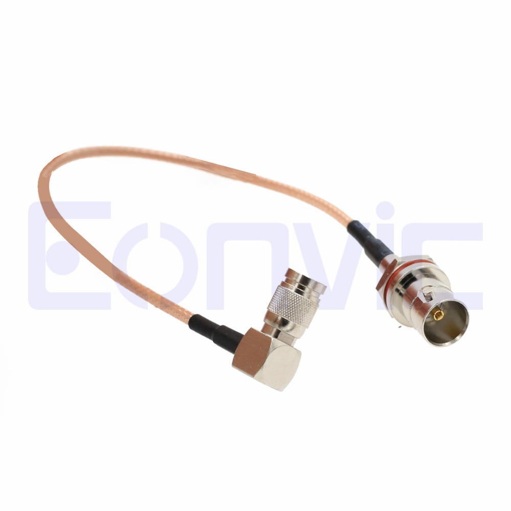 Eonvic BNC Female Bulkhead Oring to DIN 1.0//2.3 Male Straight 75ohm RG179 Pigtail Cable
