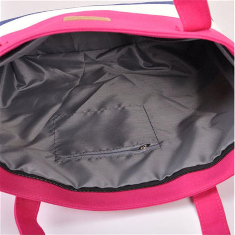 2017 New Mujer Summer Messenger Bag Beach Handbag Bags Brand Totes Women Ladies Stripes Canvas Shoulder Bag Drop Shipping N508 9