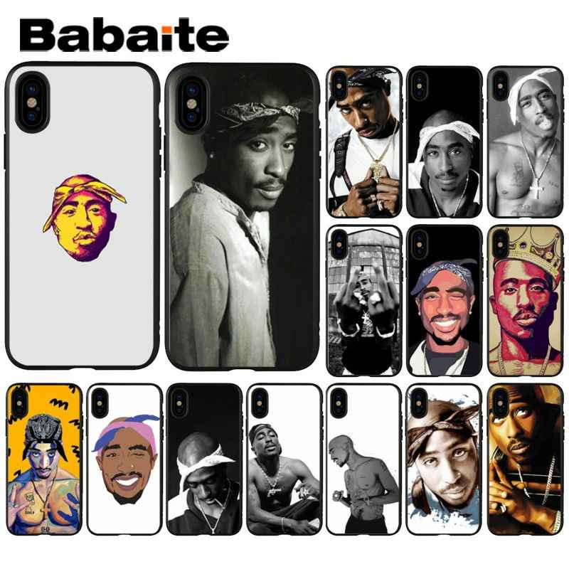 Babaite 2Pac Tupac Amaru Shakur TPU black Phone Case Cover Shell for Apple iPhone 8 7 6 6S Plus X XS MAX 5 5S SE XR Mobile Cover