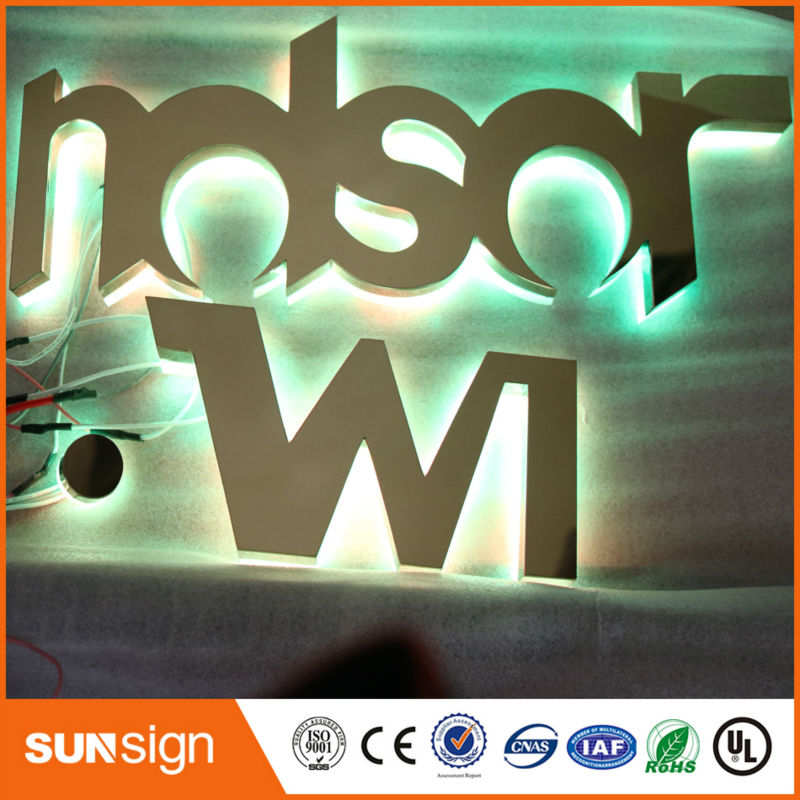 Wholesale Advertising RGB Halol Lit Decoracion Led Letras