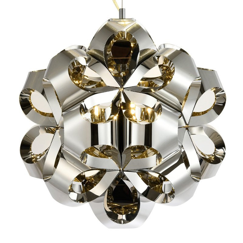 Luxury Stainless Steel Living Room Pendant Light Hollow Out Ball-flower Bar Counter Dining Room Pendant LampLighting Fixtures