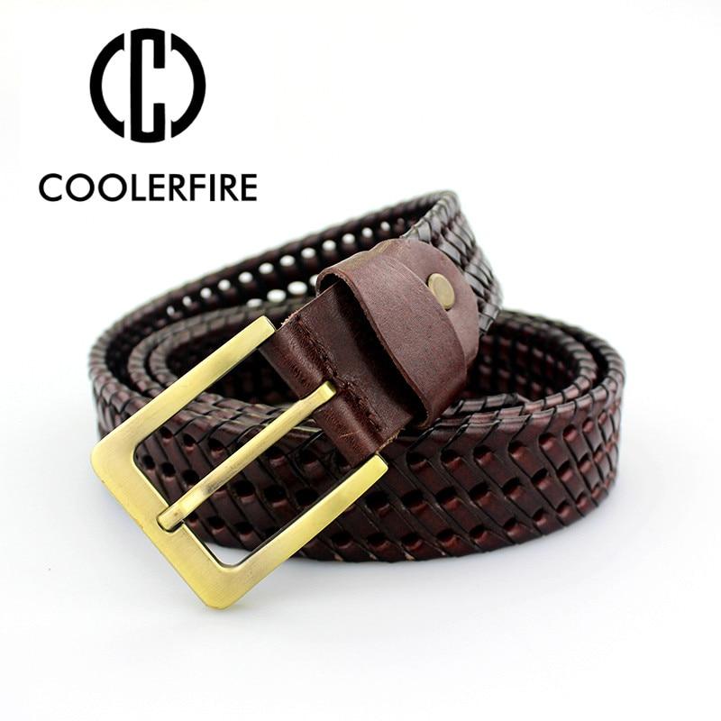 New   Belt   Men Fashion   belts   genuine leather braided Real Cow skin straps men Jeans designer   belts   men high quality MQ1620