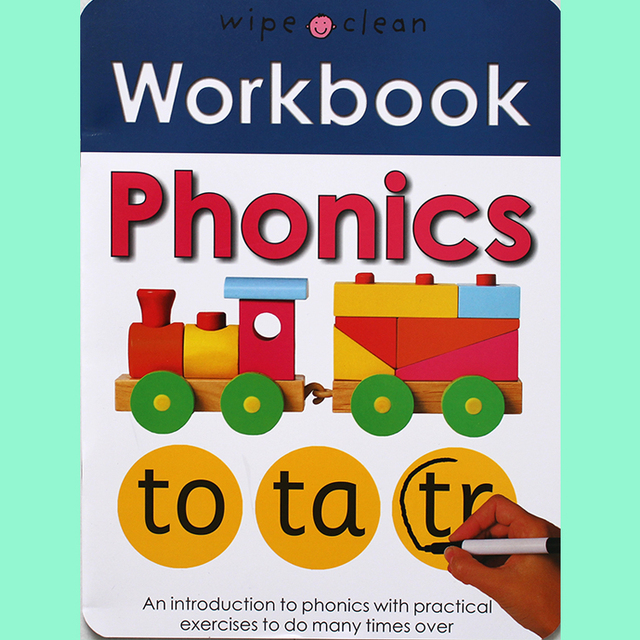 10Books/set Wipe Clean Workbook Children English Writing Book Times Tables Maths Number Skill Tricky Phonics Words Alphatbet ABC 2
