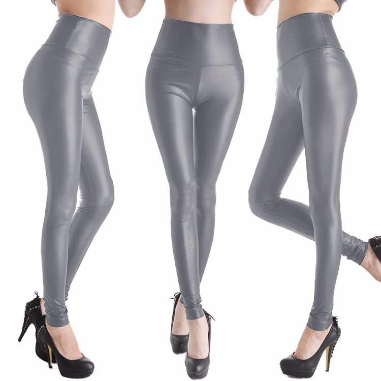 2017 New Women Sexy Leggings Faux Leather Stretch Legging High Waist Leggings Juniors Pants 4 size 21 Colors 13