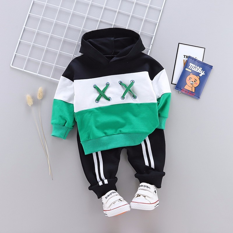 Spring Autumn Children Cotton Clothing Suit Baby Boys Girls Clothes Kids Sport Hoodies Pants 2Pcs/Sets Fahion Toddler Tracksuits