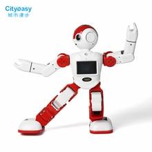 Cityeasy Интеллектуальный робот-гуманоид голос Управление робот программирования Программы для компьютера приложение Управление для безопасности видеовызова образования детей