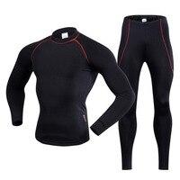 REALTOO Unisex Outdoor Sports Thermal Underwear Set Winter Warm Long Sleeve Men Therm Underwear Top Pants