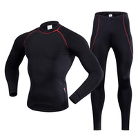 REALTOO Unisex Outdoor Sports Thermal Underwear Set Winter Warm Long Sleeve Men Therm Underwear Top Pants Cycling Base Layers