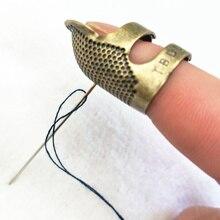 1 Uds. Protector de dedo Retro antiguo anillo dedal aguja de trabajo manual agujas de dedal artesanía hogar DIY accesorios de costura