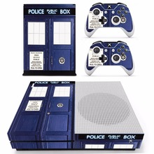 Doctor Who Tardis Skin Sticker For Microsoft Xbox One S Console and 2 Controllers For Xbox One S Skins Stickers Vinyl
