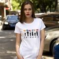 New Clothes Camisetas Cotton Short Sleeve T-Shirt Retro Friends TV Show Printed Graphic T Shirts Women Funny Tshirt Women
