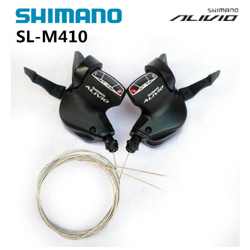 Cycling Shimano Alivio Sl M410 3x8s 24s Speed Shifter Lever Trigger Left&right Pair With Inner Shift Cable Mtb Bicycle Parts Convenient To Cook