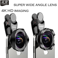 LIGINN New Professional Mobile Phone Lens 18mm 4K HD super wide angle lens for iPhone 6s plus 7 xiaomi huawei Camera Lens