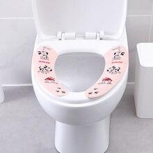 Мультфильм ванная комната туалет набор накидок на сидение 3 пары волшебные наклейки для ванной теплые туалеты Closestool моющиеся мягкие сиденья колодки сиденье для унитаза