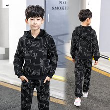 2018 New fall winter Lovely Causal Toddler Baby Boys Clothes Sets 2PCS 10Year Long Sleeve Cartoon Sweatshirt Tops+ Pants Outfit цены онлайн