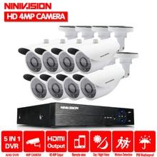 CCTV 8CH AHD TVI CVI DVR Kit 4.0mp 2560*1440  36PCS LEDS Security Camera indoor Outdoor Surveillance System Kit Easy Remote View