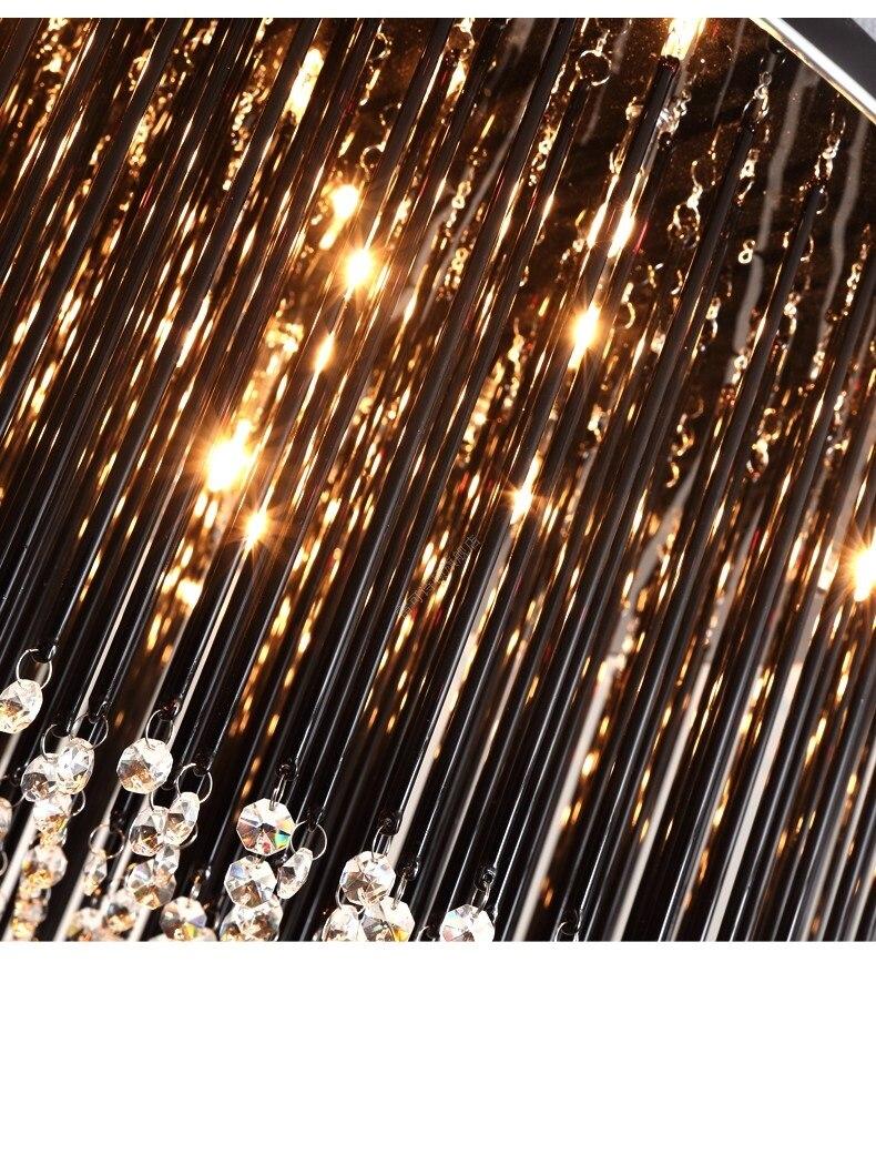 Preto Luminárias de Teto de Cristal CONDUZIU