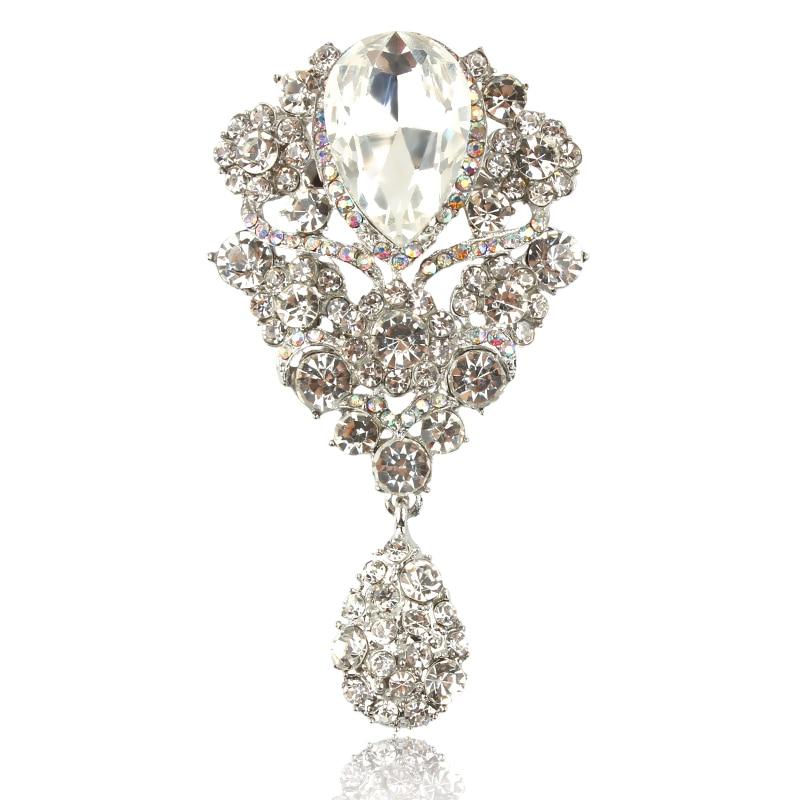 Diamante sintético Broche Forma de Hoja Clásico Moda Broche Colores ...