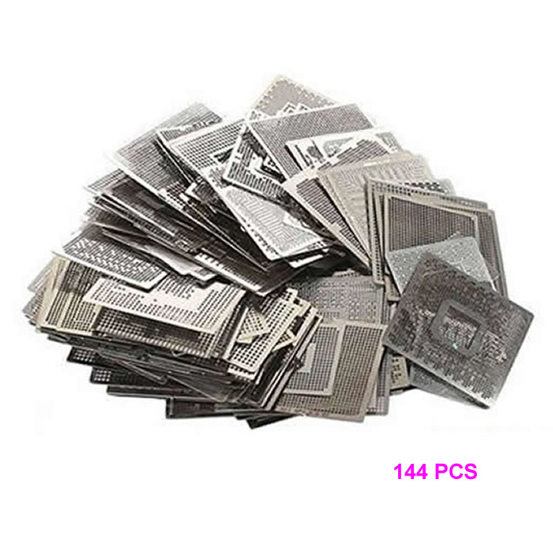 Direct Heat graphics card Stencils 144pcs for INTEL/ NVIDIA/ ATI Video chips for BGA Reballing