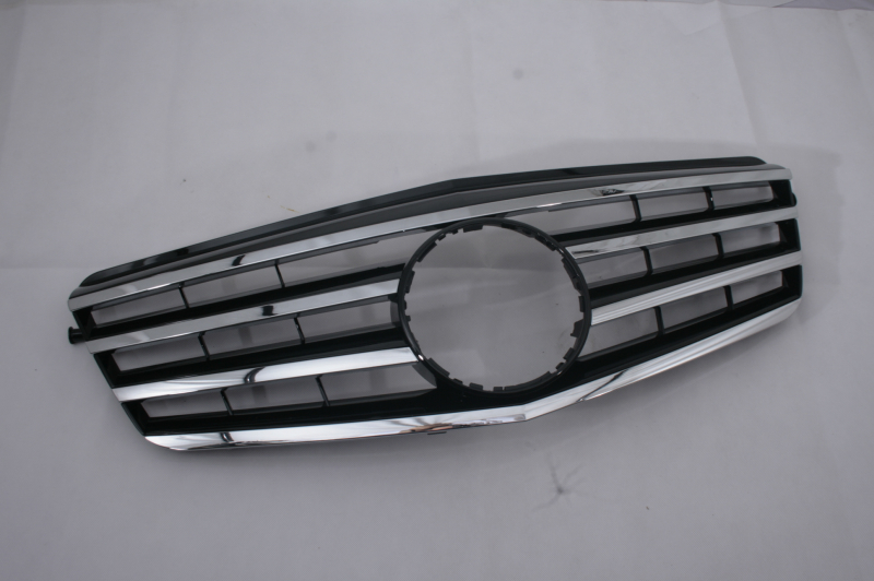 Replacement Black & Chrome Style Front Center <font><b>Grille</b></font> For <font><b>Mercedes</b></font> Benz E Class <font><b>W212</b></font> image