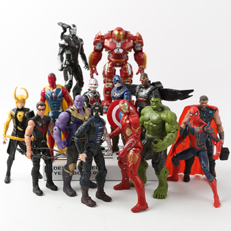 Marvel Avengers 3 infinity war Movie Anime Super Heros Captain America Ironman Spiderman hulk thor Superhero Action Figure Toys