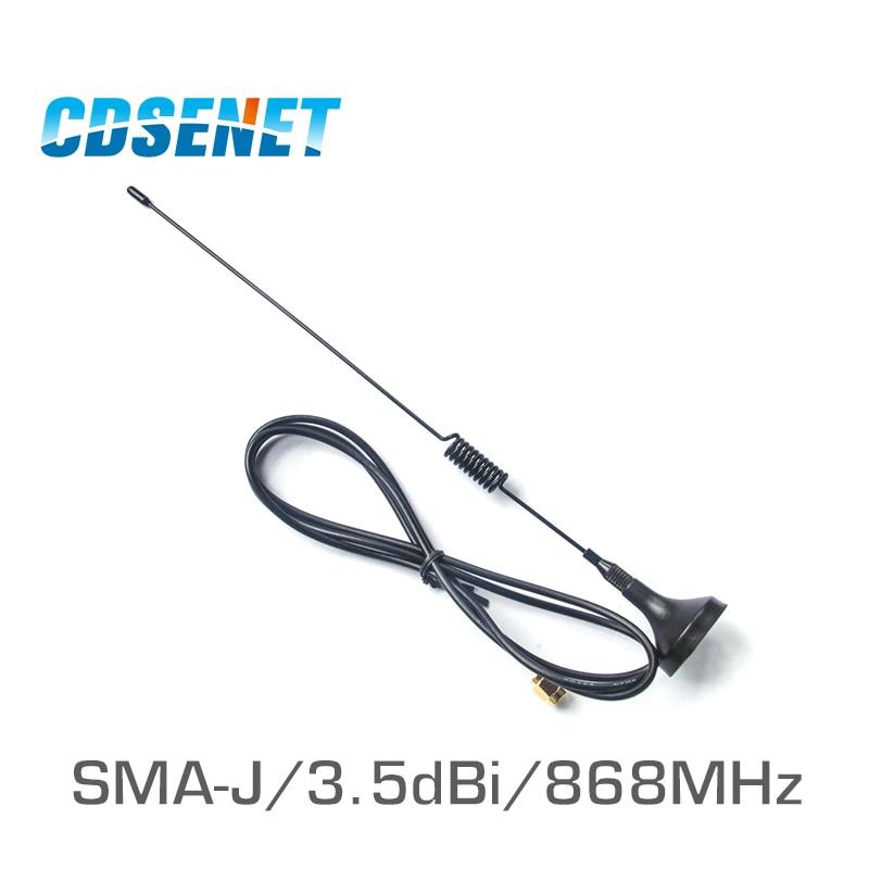 2Pc/Lot 868MHz High Gain Uhf Sucker Antenna CDSENET TX868-XPL-100 3.5dbi SMA Male Omnidirection Wifi Antenna For Wireless Module