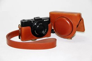 Image 4 - Leather Camera Case Cover Bag for Sony Cyber shot RX 100M3 RX100V M3 rx100ii DSC RX100 m3 M5 rx100 iii RX 100 ii camera bag