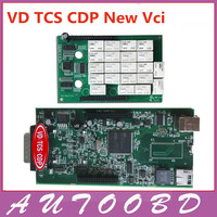 האיכות הטובה ביותר VD TCS CDP PRO Plus (NEC ממסר שבב) לא Bluetooth האוטומטי OBD2 כלי אבחון 2015 R3/2014. R3 ציוד CDP סורק