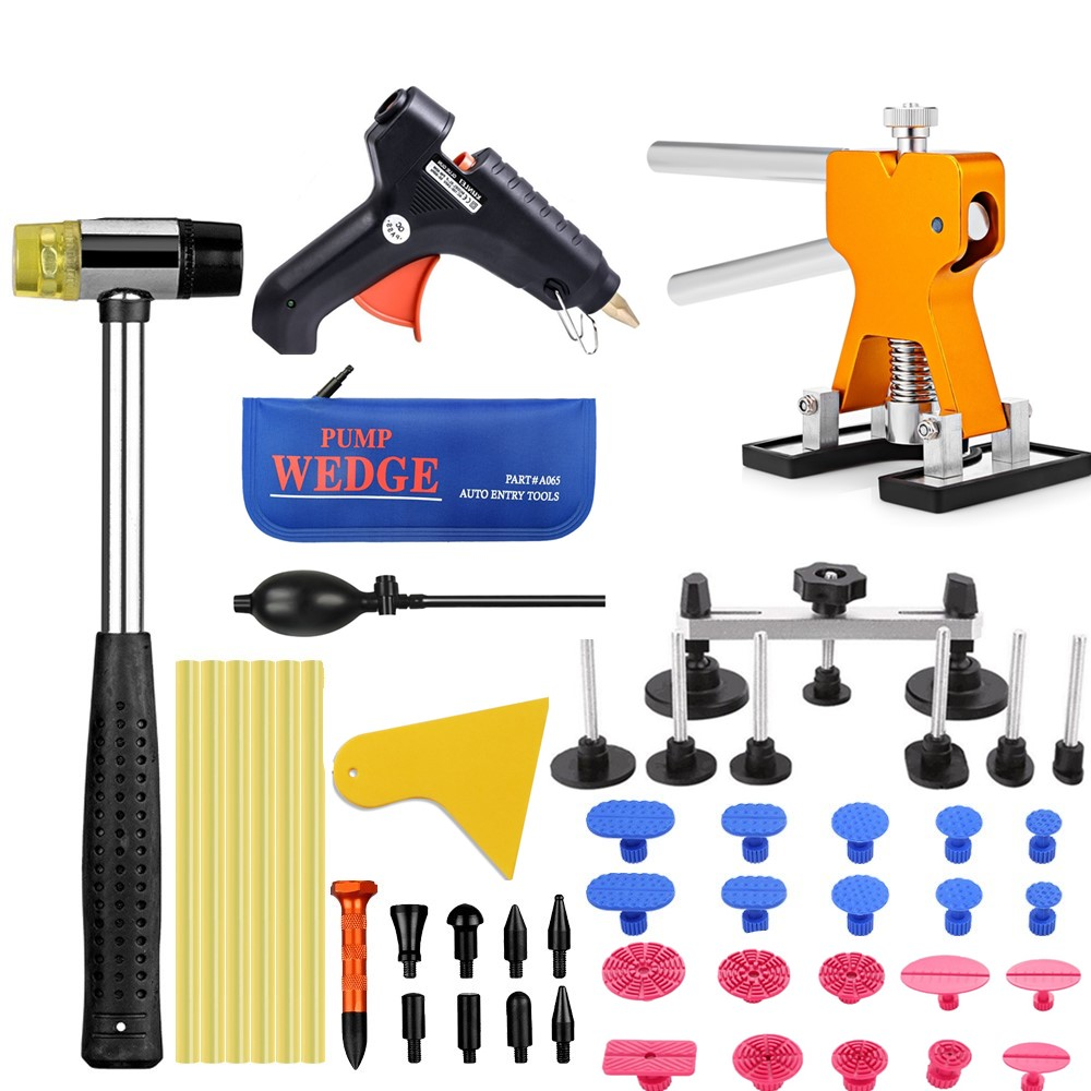PDR Tools Car dent removal Tools kit paintless dent repair Tool set dent puller Hot Melt Glue Sticks Glue Gun Puller Tabs super pdr tools dent removal kit for car dent puller suction cup glue sticks for hot melt glue gun line board pump wedge air bag