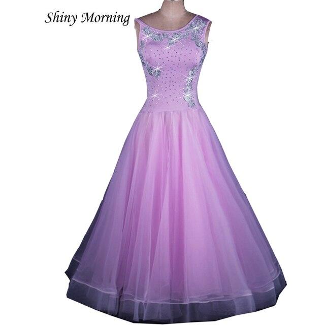 50205ac9b1 light purple rhinestone Ballroom Dress Viennese standard ballroom dress  ladies ballroom dress ballroom dresses tango costumes