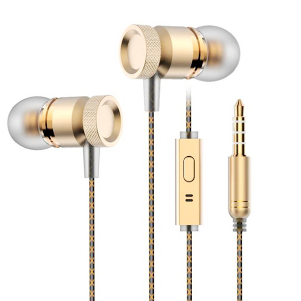 Earphone Headsets Stereo Bass 3.5mm In Ear Earbuds Volume Control Earphones With Mic For Phone/Ipad/PC/Tablet/MP3/MP4