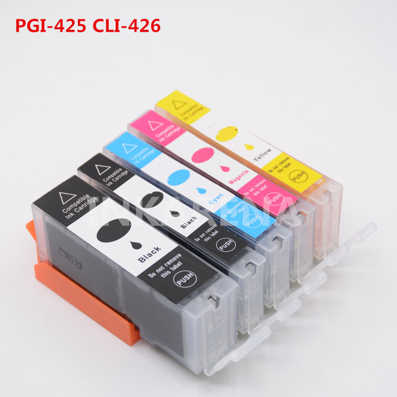 PGI-425 CLI-426 Full Ink For Canon pgi425 cli426 Ink Cartridge For Canon pixma mg5240 mg5140 ip4840 ip4940 ix6540 mg5340 Printer 1set pgi 425 cli 426 ink cartridge for canon pgi 425 cli426 pixma mg5240 mg5140 mg5340 ip4840 mx884 ix6540 ip4940 mg5340 mx714