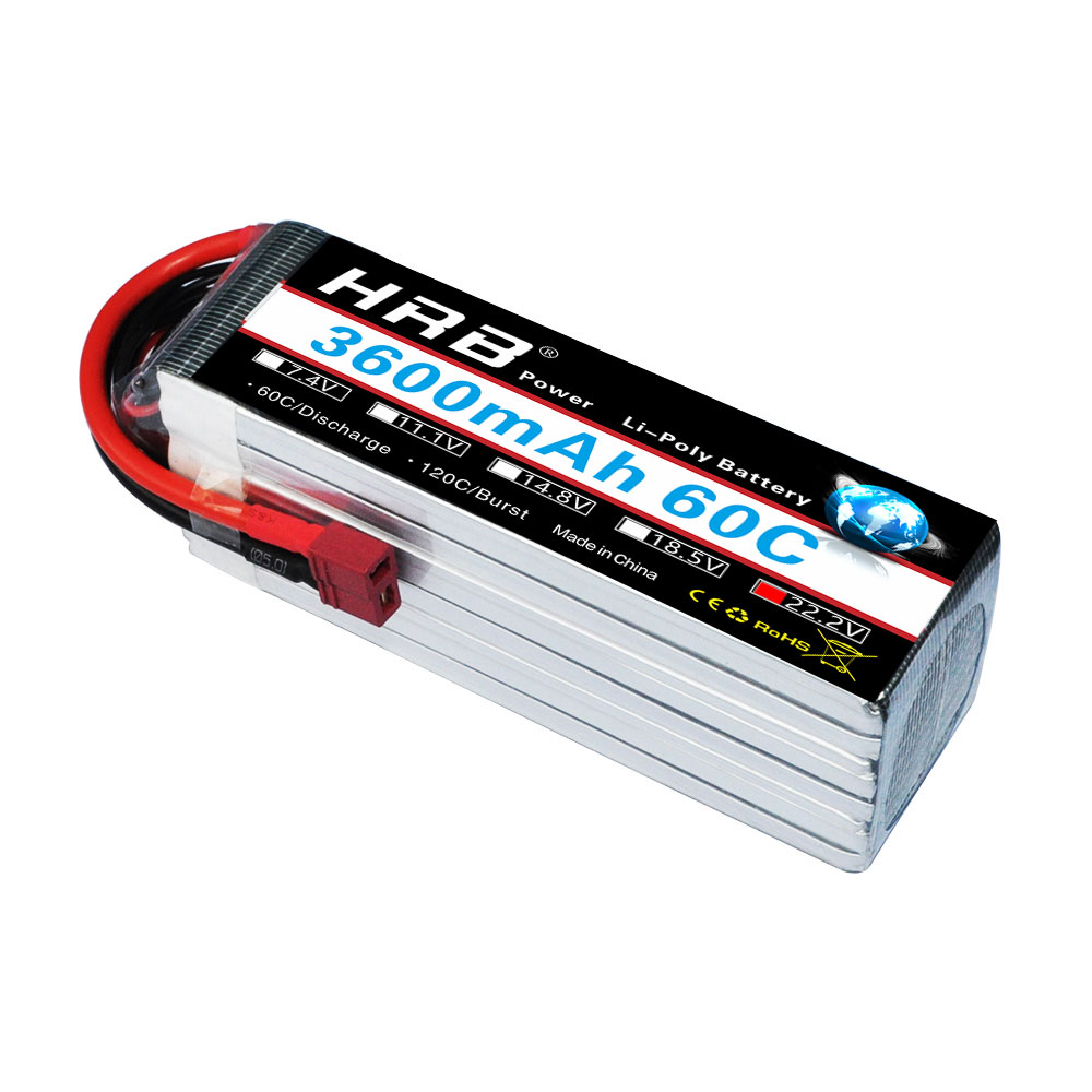 HRB Lithium Polymer 6S Battery Rechargeable 22 2V 3600mAh 60C MAX 120C RC Bateria Drone AKKU