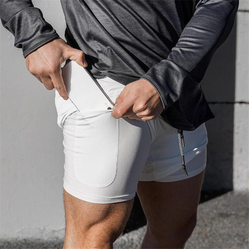 <font><b>Men's</b></font> <font><b>2</b></font> <font><b>in</b></font> <font><b>1</b></font> <font><b>Running</b></font> <font><b>Shorts</b></font> <font><b>Men</b></font> <font><b>Sports</b></font> Tights <font><b>Shorts</b></font> Quick Dry Training Exercise Joggers Gym <font><b>Shorts</b></font> Built-<font><b>in</b></font> Security pocket image