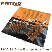 Armiyo 12GA 12 Gauge 18.5mm Memburu Brass Wire Barrel Pembersihan Berus Skru Thread Thread M8 * 7mm
