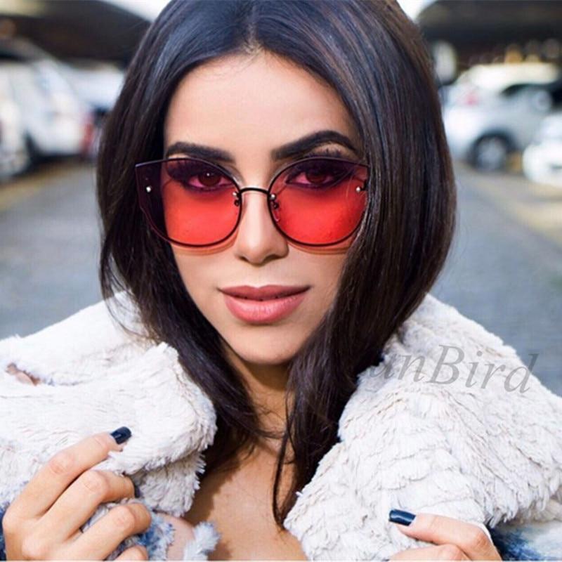 Fashion Sunglasses Women Round Cat eye Sunglasses UV400 High Quality oculos de sol feminino Metal Frame Colorful Glasses 740R
