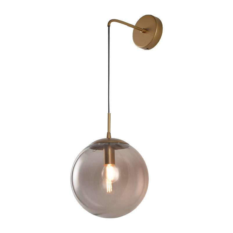 Nordic Modern LED Wall Lamp Global Glass Ball Bathroom Mirror Beside American Retro Wall Light Sconce Wandlamp Aplique Murale ikvvt nordic modern led wall lamp glass ball bathroom mirror bedside american retro wall light sconce wandlamp aplique murale