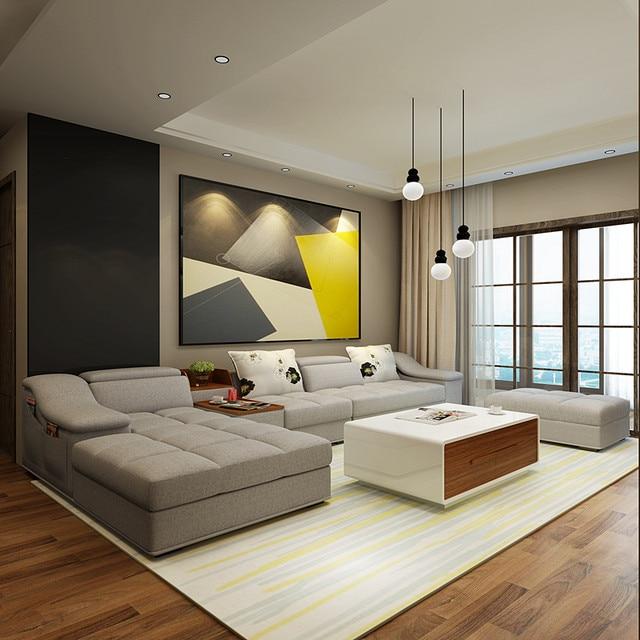 Online Shop Mobili soggiorno moderno a forma di L divano componibile ...