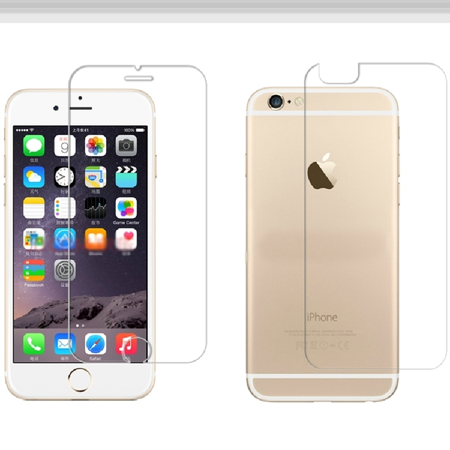 sports shoes 0db36 d6893 US $2.99 25% OFF|Glass for iPhone 6 6S Front and Back Tempered Glass Film  Screen Protector For iPhone 6Plus Plus-in Phone Screen Protectors from ...