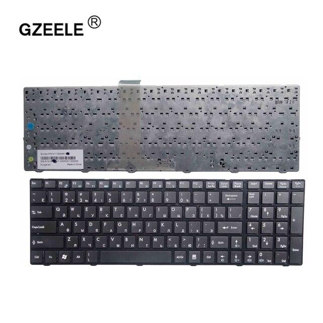 GZEELE MSI A6200 CR620 CX705 S6000 MS 1681 MS 1736 CX705 MS16GB MS16GA 블랙 RU 노트북 키보드 용 러시아어 키보드