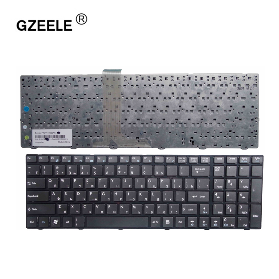 GZEELE Russian Keyboard For MSI A6200 CR620 CX705 S6000 MS-1681 MS-1736 CX705 MS16GB MS16GA Black RU Laptop Keyboard Black