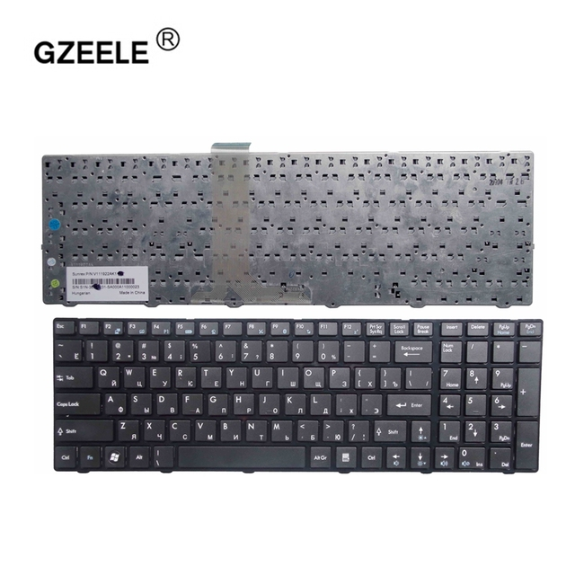 GZEELE Russian Keyboard For MSI A6200 CR620 CX705 S6000 MS 1681 MS 1736 CX705 MS16GB MS16GA black RU laptop keyboard black
