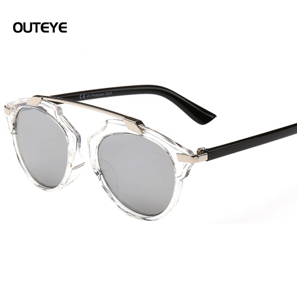 Outeye d été surdimensionné métal plat lunettes de soleil femmes steampunk  lunettes de soleil mercure réfléchissant lunettes lunettes de soleil mujer  gafas ... fe0becb1e7d4