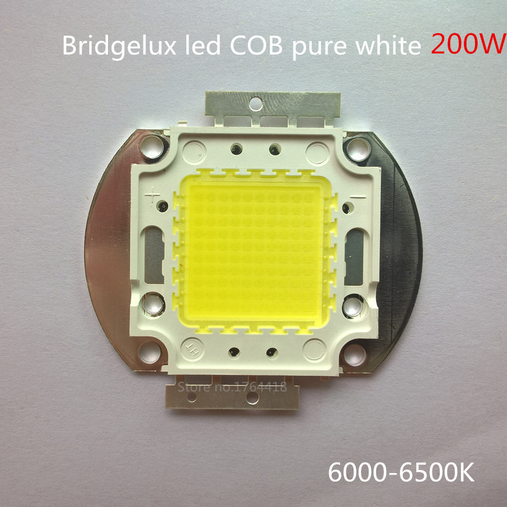 Free shipping DIY projection 200W high lumen diy projector led COB LED Lamp Bridgelux chip 68mil pure white with 100 pcs leds 1w led bulbs high power 1w led lamp pure white warm white 110 120lm 30mil taiwan genesis chip free shipping