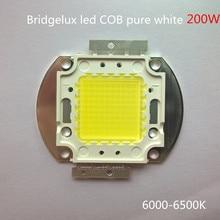 Livraison gratuite DIY de projection 200 W haute lumen diy projecteur led COB LED Lampe Bridgelux puce 68mil pur blanc avec 100 pcs led