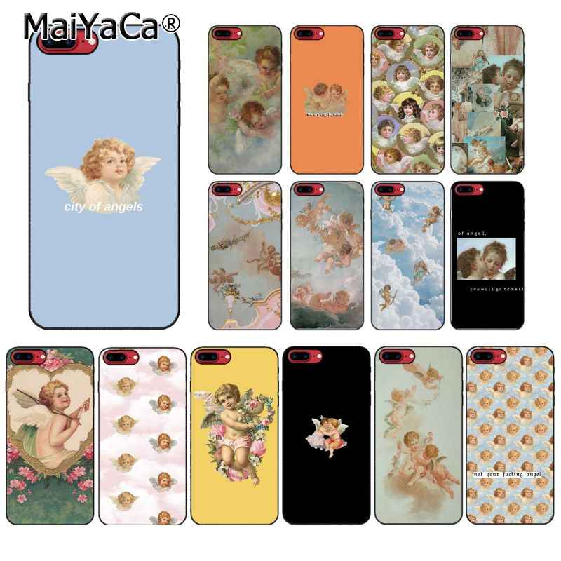 MaiYaCa Renaissance angels Phone case For iphone 11 Pro 11Pro MAX 8 7 6 6S Plus 5 5S SE XR X XS MAX 10 Coque Shell