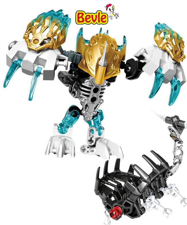 Bevle XSZ 609 6 Biochemical Warrior Bionicle Melum Creature of Ice Bricks Toy Building Blocks Toys